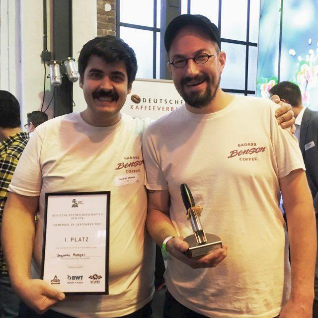 Andres und Benjamin Pozsgai bei der Deutschen Röstmeisterschaft 2019