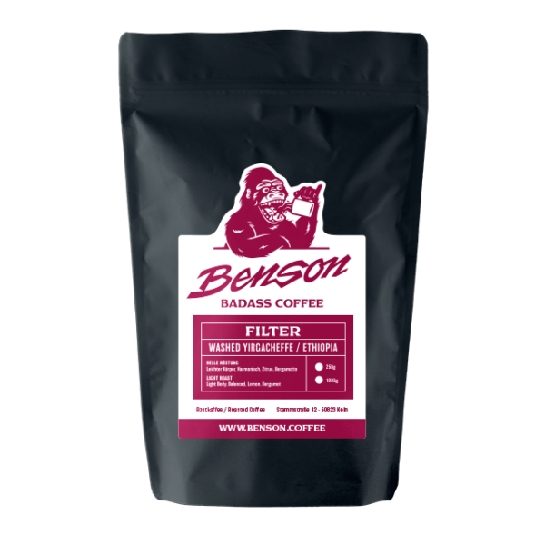 Benson Coffee – Ethiopia, Washed Yirgacheffe, Filter
