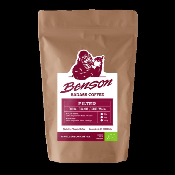 Benson Coffee – Corall Grande – Guatemala – Bio – Filter